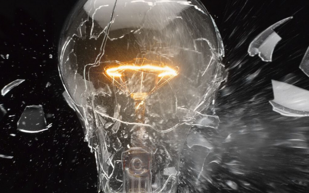 breaking light bulb