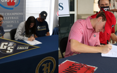 The Habersham School hits the big time as Jordan Christy and Sam Parker sign Division I athletic scholarships