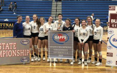Habersham Volleyball Wins Third Straight State Crown